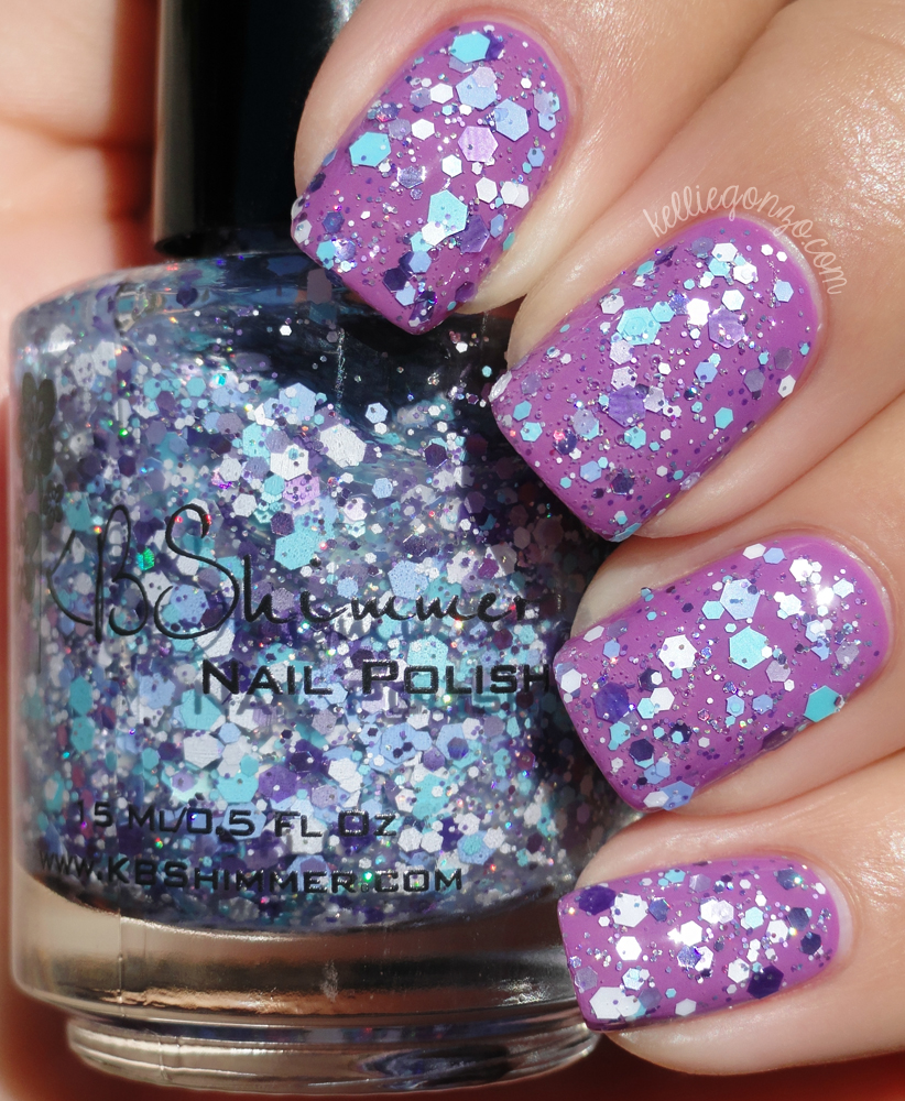 KBShimmer - Happily Ever Aster over Radiant Orchid | kelliegonzo