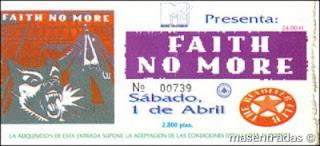 entrada de concierto de faith no more