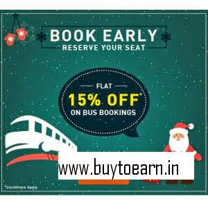 Goibibo: Buy Bus Tickets 15% off + 5% off