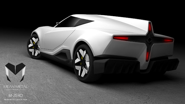 Marcelo Aguiar Mean Metal Motors M-Zero render 3/4 rear