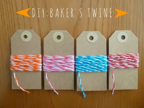 baker's twine DIY
