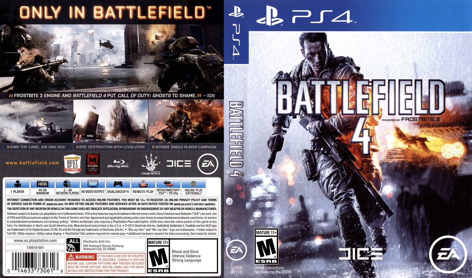Capa Battlefield 4 PS4
