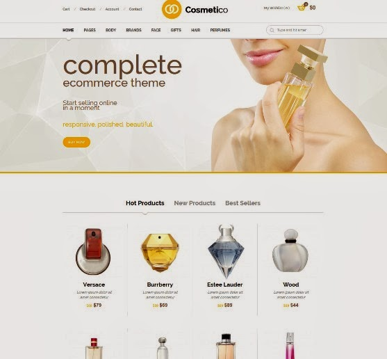 Cosmetico Responsive eCommerce WordPress Theme