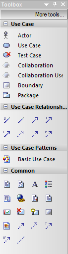 use case diagram toolbox