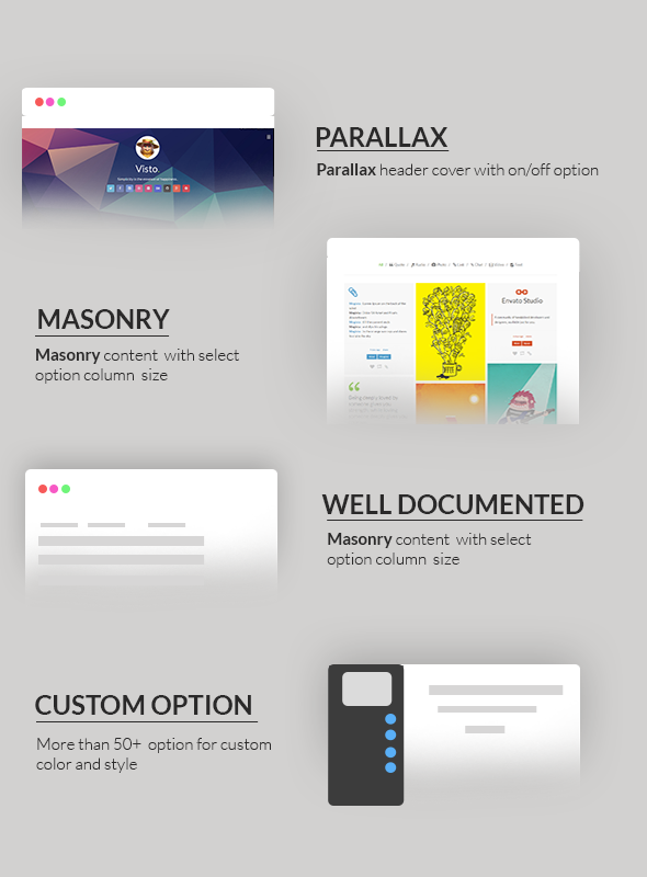feature visto theme