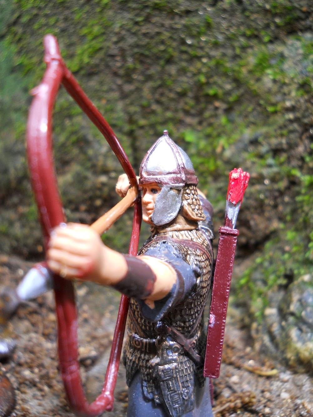 figura de arquero auxiliar sirio