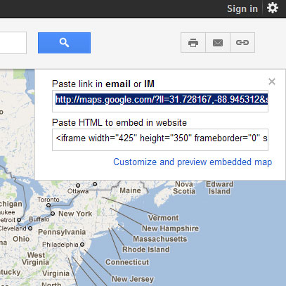 how to add google map in html