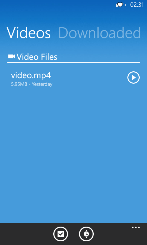 downloaded video from linux to lumia phone
