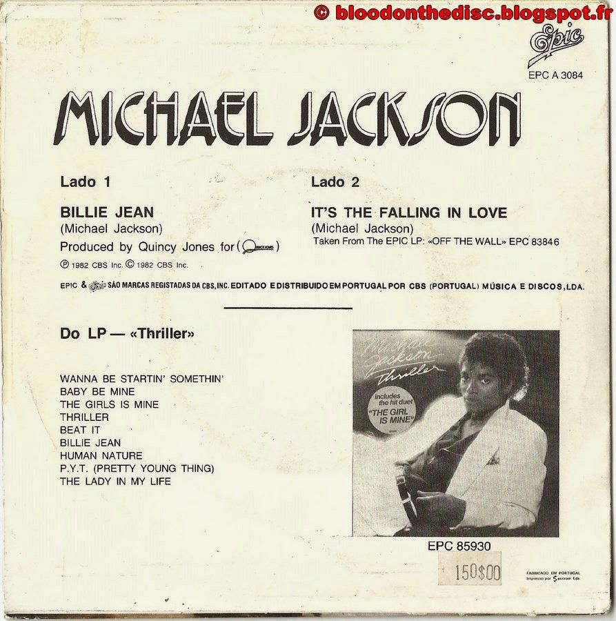 Billie Jean 45T Porto Back Cover