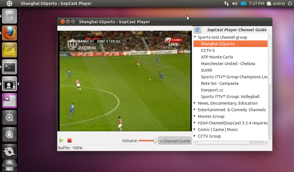 SopCast   бесплатная программа для просмотра видео трансляций