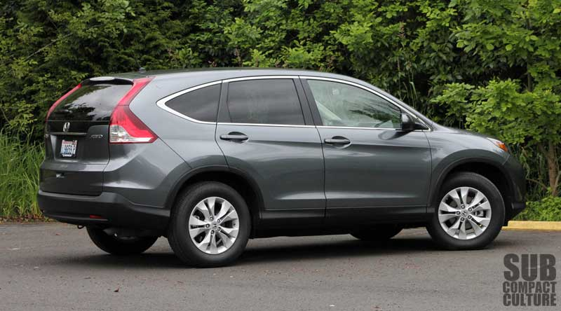 review 2012 honda cr v ex awd practicality refinement and understatement subcompact. Black Bedroom Furniture Sets. Home Design Ideas