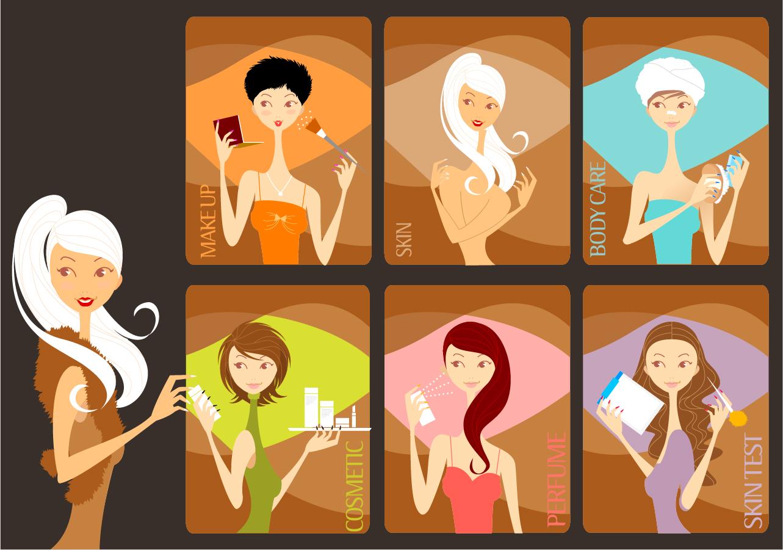 ビューティーサロンのクリップアート Beauty Salon イラスト素材