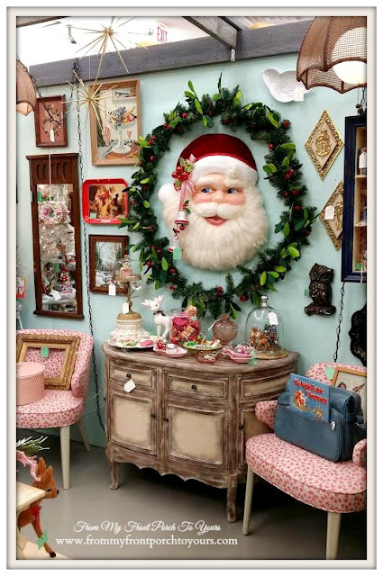 Vintage Santa- Vintage Christmas-Queen of Hearts-Georgia-Antique Shopping- From My Front Porch To Yours