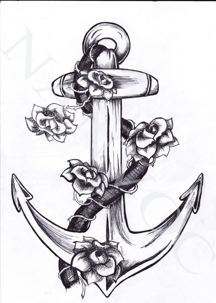 Vintage Navy Anchor Tattoo Auger Valve Image Designs