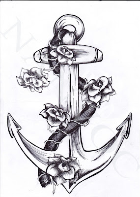 Anchor Tattoo Drawing Designs
