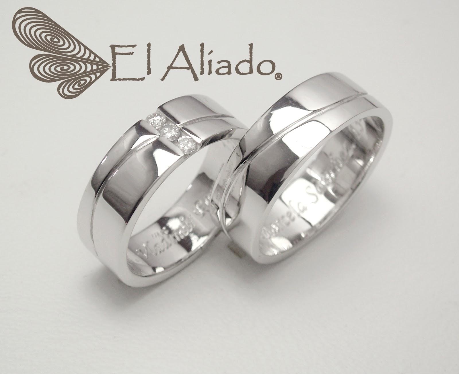 El aliado joyas argollas de matrimonio y anillos de for Precio rodiar anillo oro blanco