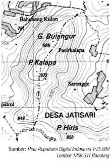Garis Kontur pada Peta Topografi