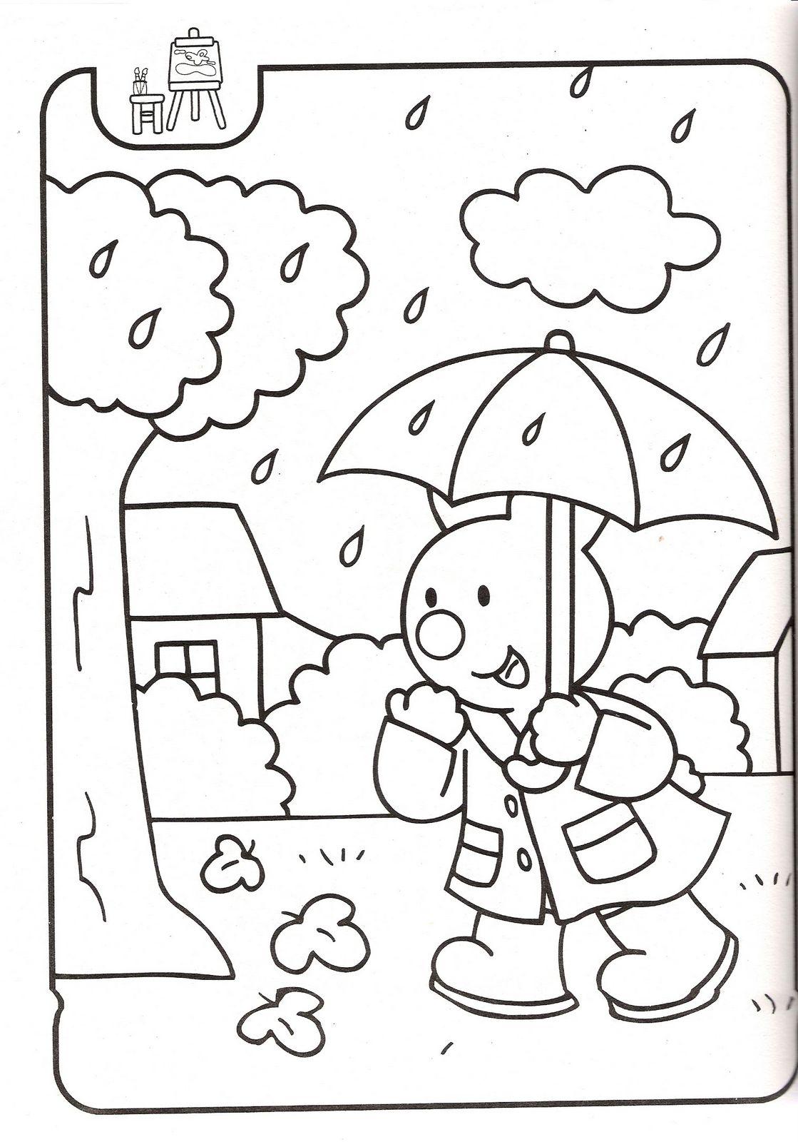 Perfecto Día Lluvioso Para Colorear Para Preescolares Galería ...