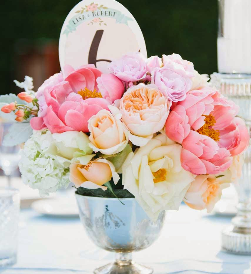 Pink & Cream Wedding Flowers Decoration Ideas pictures hd