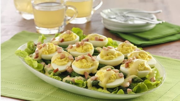 benedict deviled eggs recipe