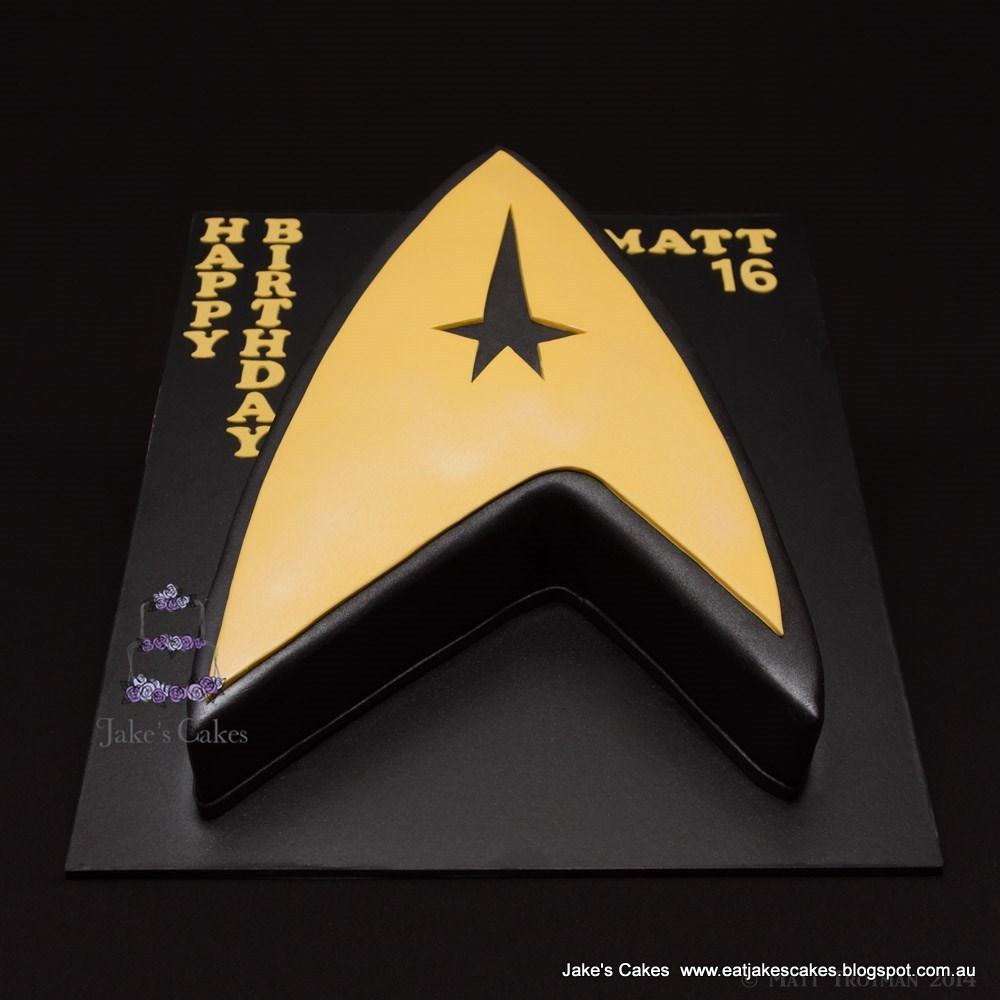 Jakes Cakes Star Trek Cake