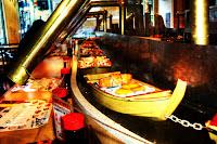 Japanese menu sushi boat