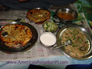 fried rice, kulcha, Punjab, India, food