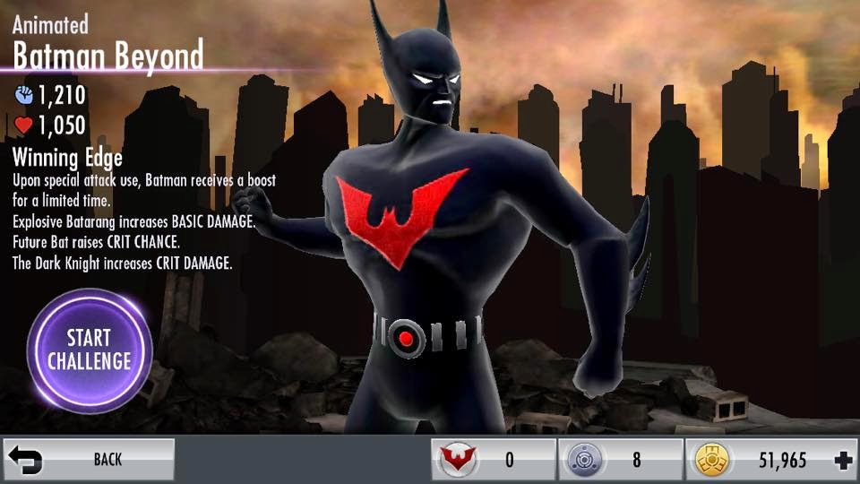 Gallery For > Batman Beyond Injustice Card