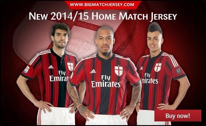 Jersey GO AC Milan Home Terbaru Musim 2014-2015