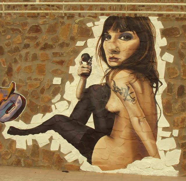 graffiti de izak en encuentro de graffiti en Chañaral