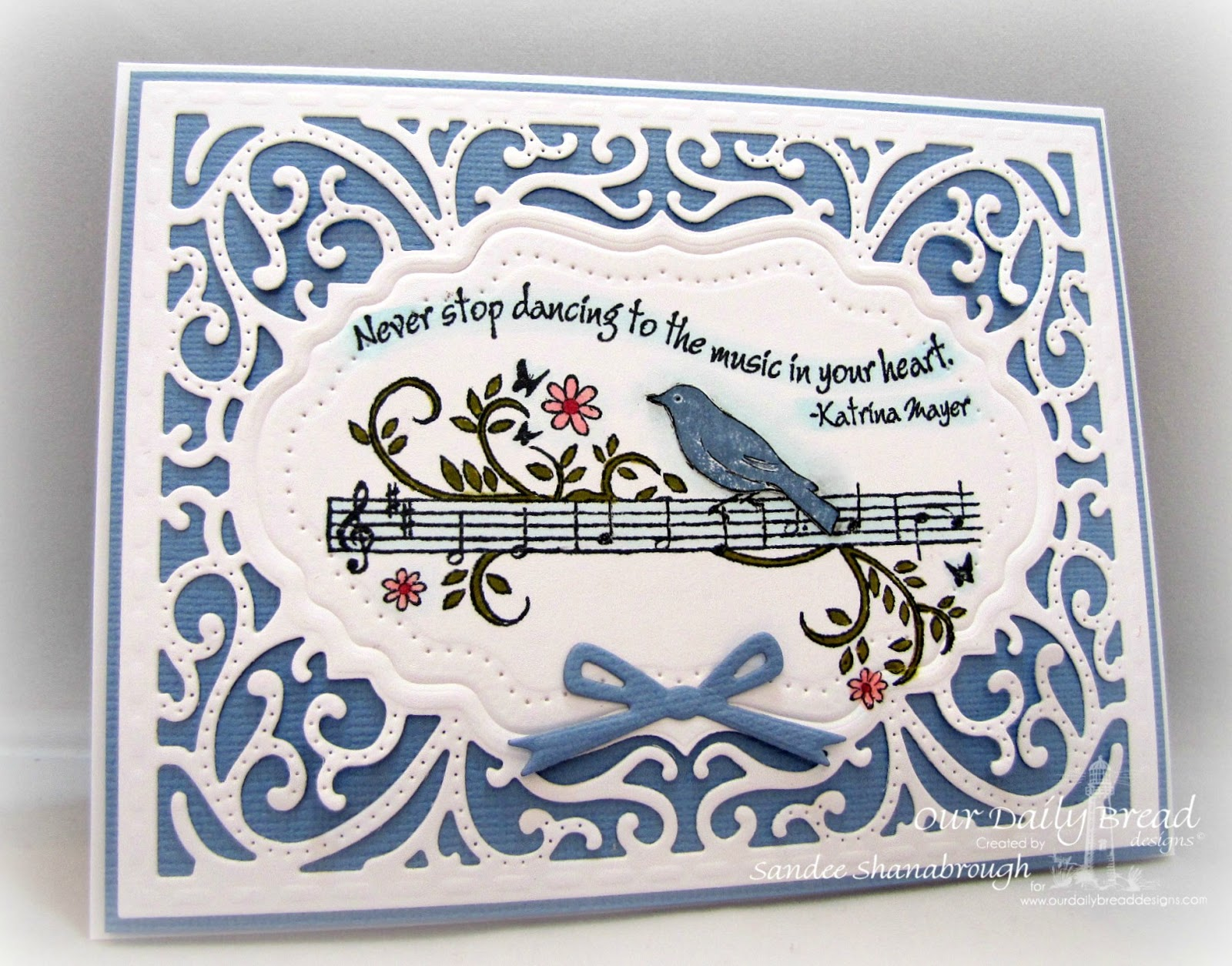 Stamps - Our Daily Bread Designs Music Speaks, ODBD Custom Vintage Flourish Pattern Die, ODBD Custom Circle Ornament Dies