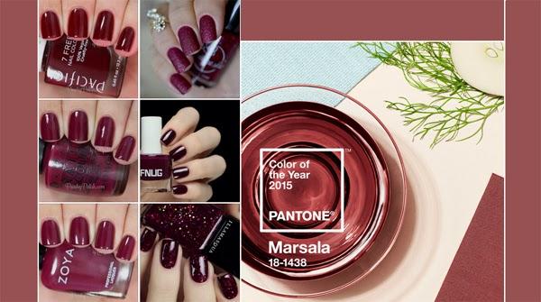 Pantone cor Marsala 2015 esmaltes para unhas