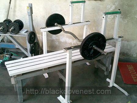 Homemade bench press rack blackdove nest for Homemade safety squat bar