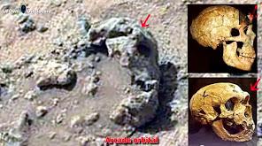 Ancient Aliens sur Mars: Vieux crâne et Amphore sur Mars, le 17 Juillet 2014