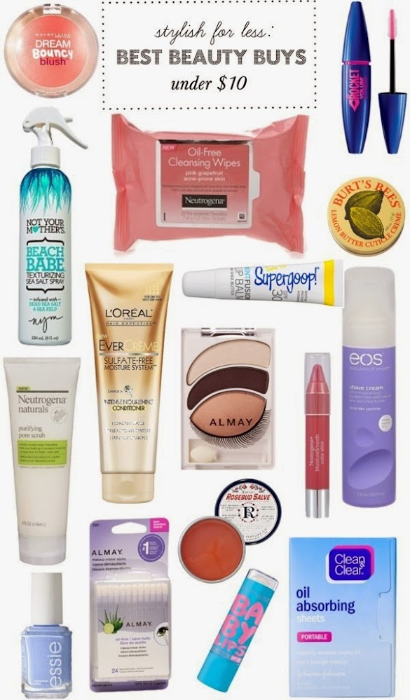 stylish for less beauty products under $10