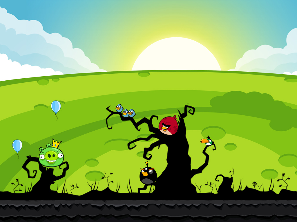 Free to Download Angry Birds Wallpapers and Make Your Desktop Shake