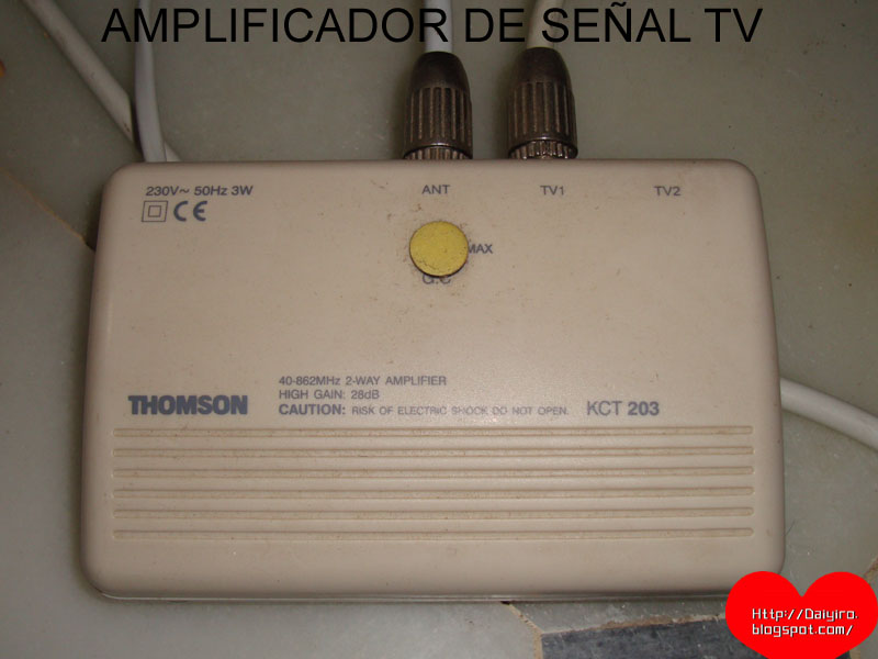 Conseguir una buena recepci n de televisi n tdt blog de - Amplificador senal tdt ...