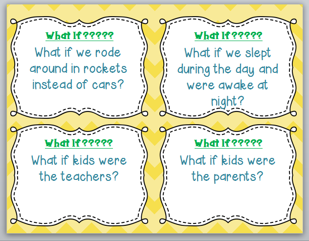 http://www.teacherspayteachers.com/Product/What-If-Story-Prompt-Cards-1248269