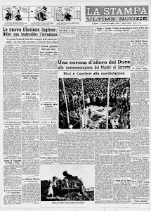 LA STAMPA 22 LUGLIO 1940