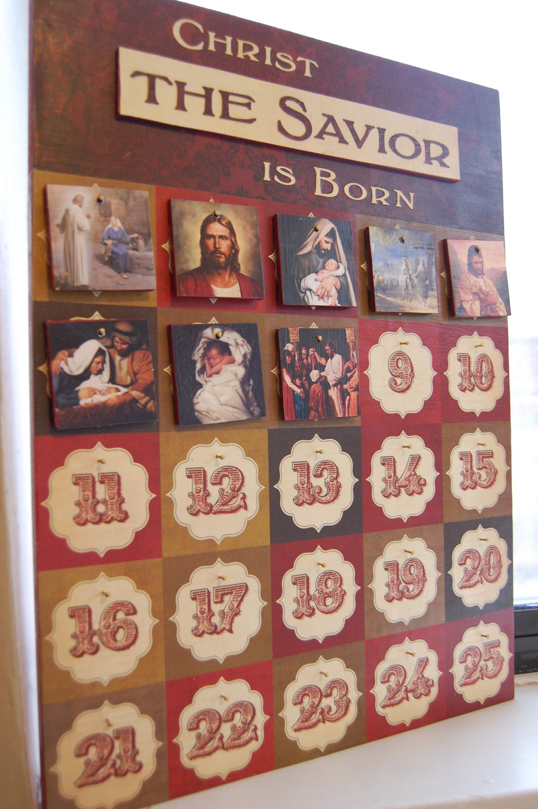 Diy Christian Advent Calendar : Sunlit pages christ the savior is born advent calendar