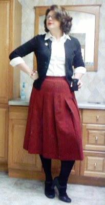 Lilli Ann wool skirt