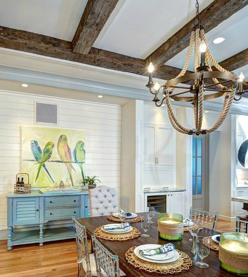 Pottery Barn Rope Chandelier