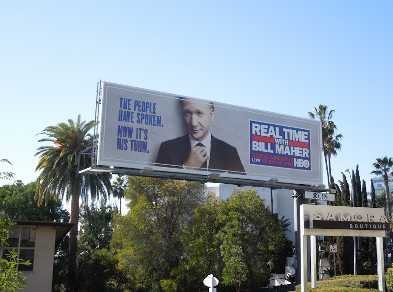 Real Time Bill Maher TV billboard