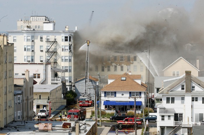 Fire At The Bellevue Hotel Ocean City Nj 28 September 2017 Photo By Dale Gerhard Pressofatlanticcity