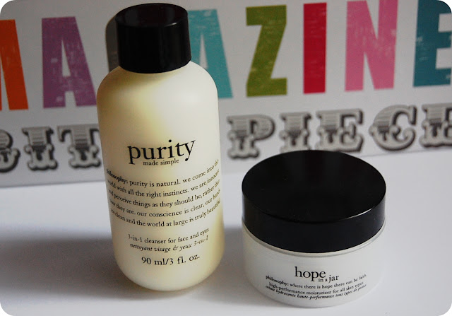 Philosophy Purity facial Cleanser, Philosophy Hope in a Jar