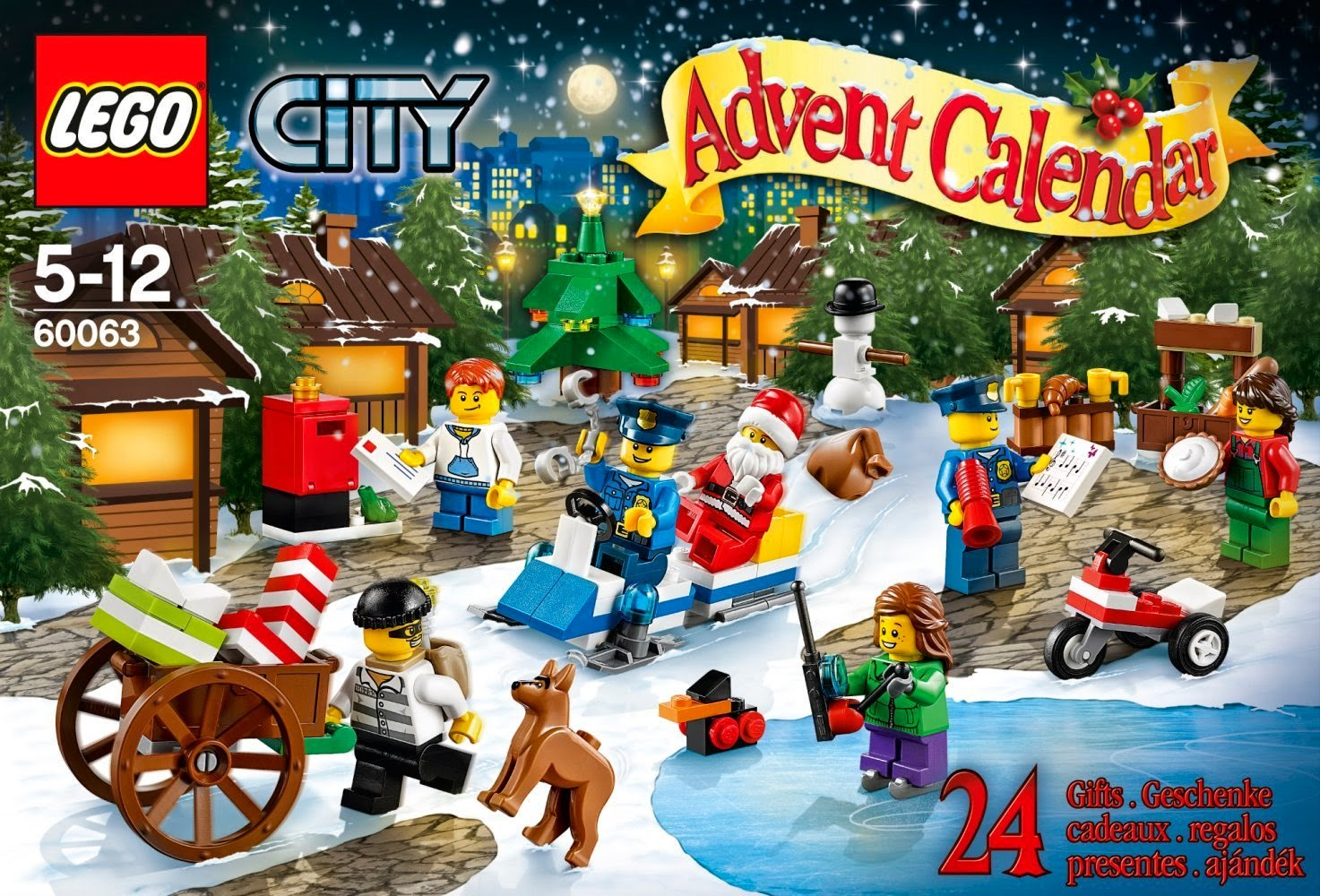Calendario Dell Avvento Lego City Town 60063 24 regali Natale 2014 prezzo