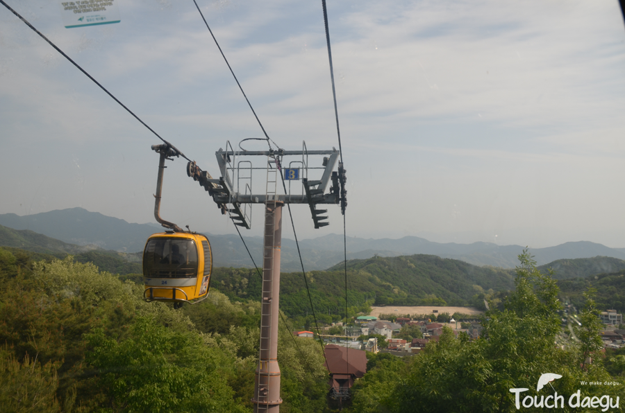 A cable car to the top of Palgon mountain.