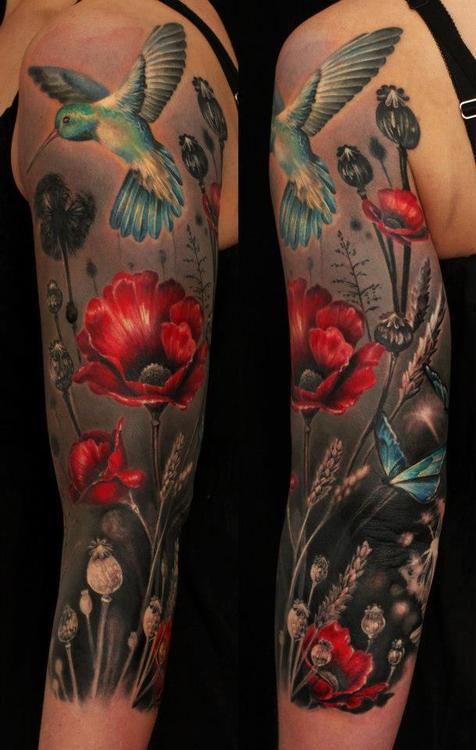Birds Shoulder Tattoo for girls