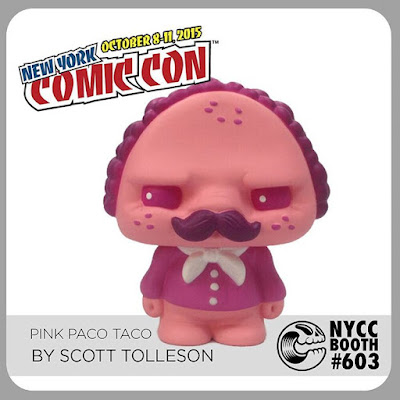 New York Comic Con 2015 Exclusive Pink Paco Taco Vinyl Figure by Scott Tolleson