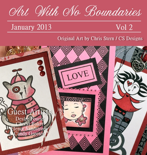 Art With No Boundaries January 2013 Ezine Cover